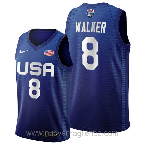 maglie basket USA blu Kemba Walker 2020