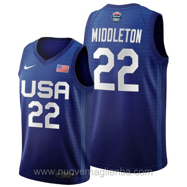 maglie basket USA blu Khris Middleton 2020