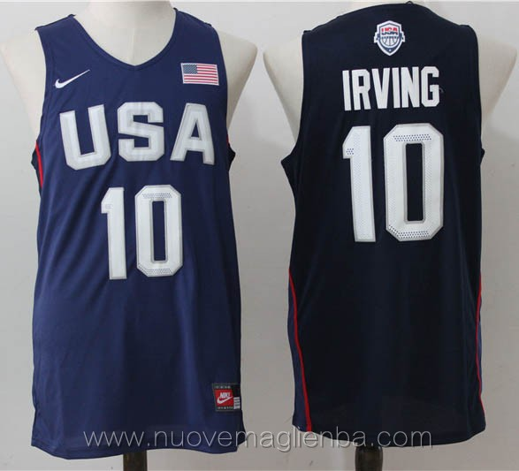 maglie basket USA blu Kyrie irving 2016