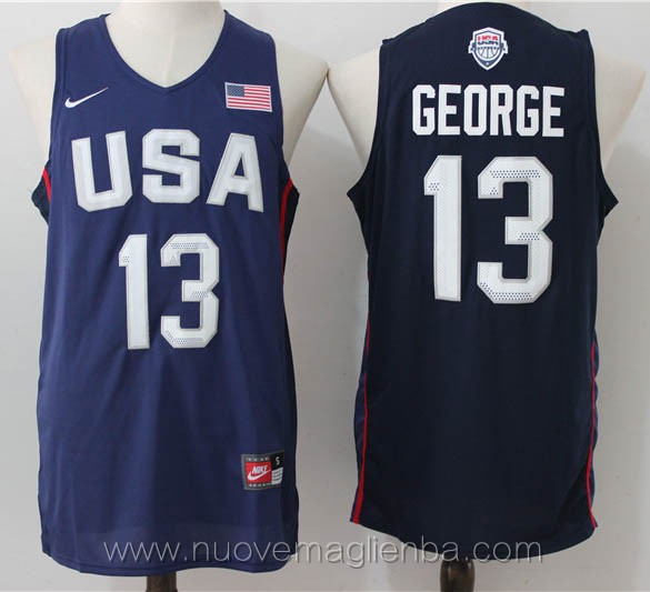 maglie basket USA blu Paul George 2016
