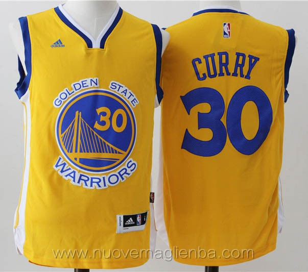 maglie basket basket nba giallo Stephen Curry Golden State Warriors Versione attiva