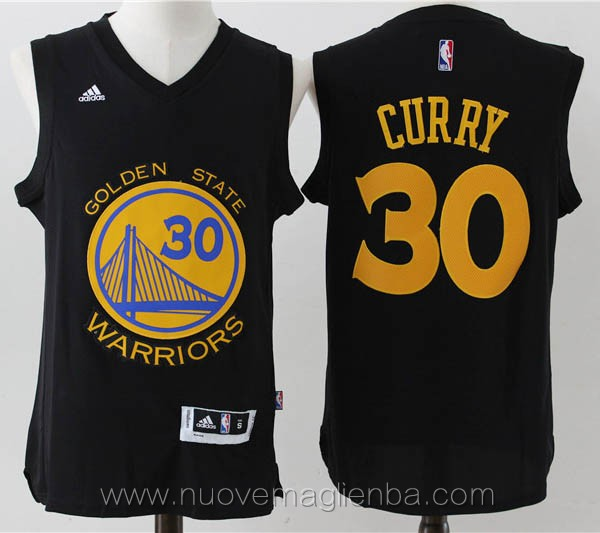 maglie basket basket nba nero Stephen Curry Golden State Warriors Versione attiva