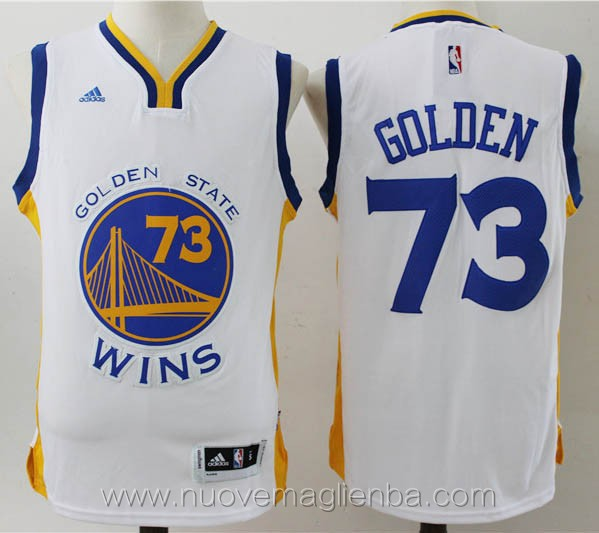 maglie basket nba bianco Golden State Warriors 73 vittorie