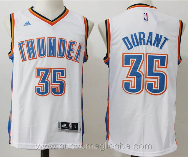 maglie basket nba bianco Kevin Durant Oklahoma City Thunder versione fanr versione fan