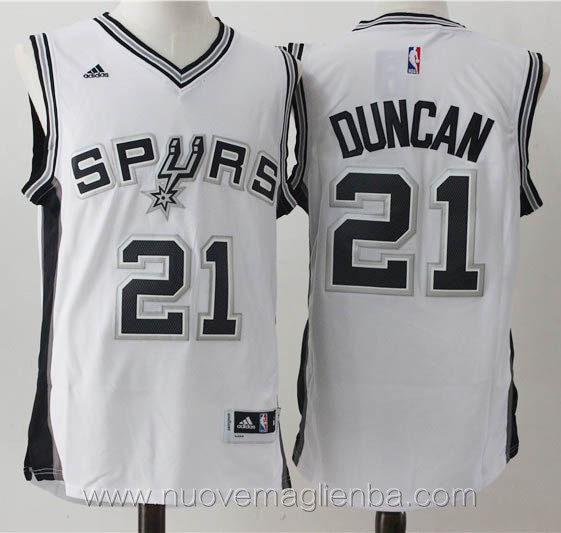 maglie basket nba bianco Tim Duncan San Antonio Spurs