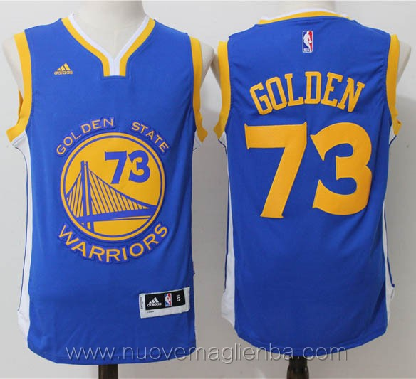 maglie basket nba blu Golden State Warriors 73 vittorie