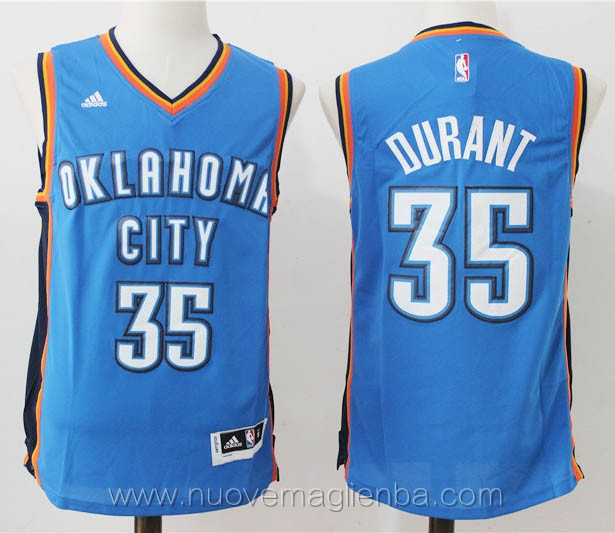 maglie basket nba blu Kevin Durant Oklahoma City Thunder versione fan