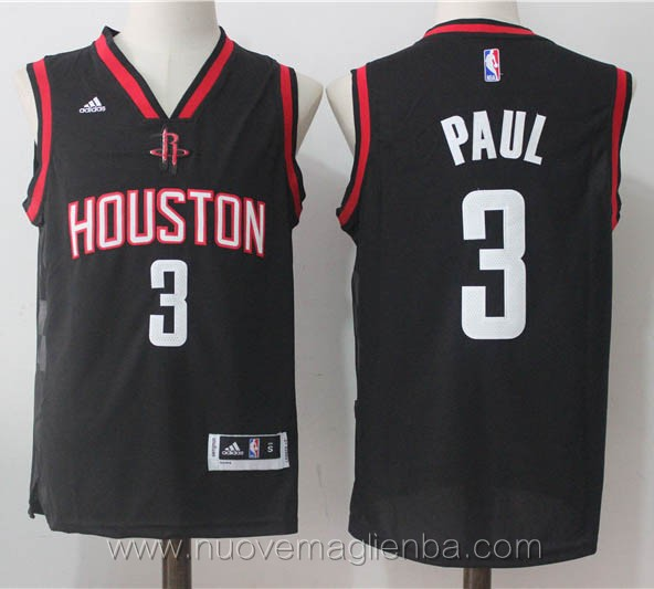 maglie basket nba nero Chris Paul Houston Rockets