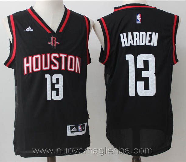 maglie basket nba nero James Harden Houston Rockets