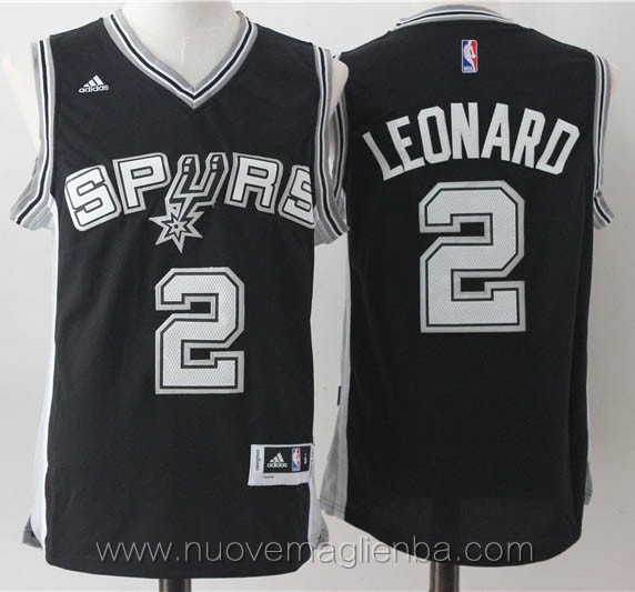 maglie basket nba nero Kawhi Leonard San Antonio Spurs versione fan