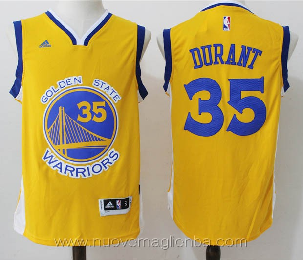 maglie basket nba nero Kevin Durant Golden State Warriors Versione attiva