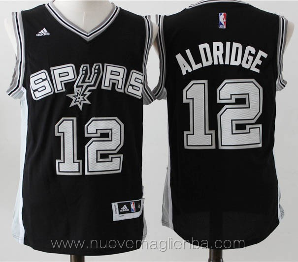 maglie basket nba nero LaMarcus Aldridge San Antonio Spurs