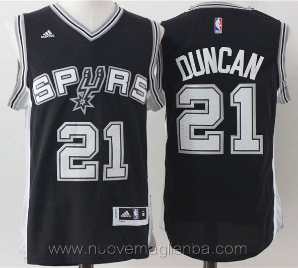 maglie basket nba nero Tim Duncan San Antonio Spurs