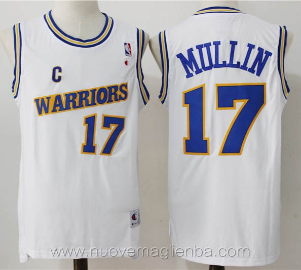 maglie basket nba retro bianco Chris Mullin Golden State Warriors