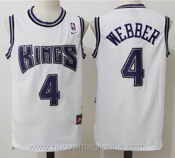 maglie basket nba retro bianco Chris Webber Sacramento Kings