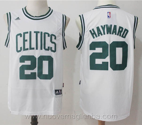 maglie basket nba retro bianco Gordon Hayward Boston Celtics