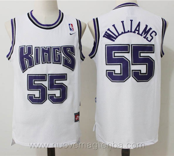 maglie basket nba retro bianco Jason Williams Sacramento Kings