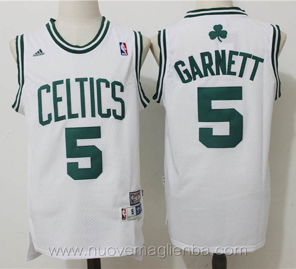 maglie basket nba retro bianco Kevin Garnett Boston Celtics