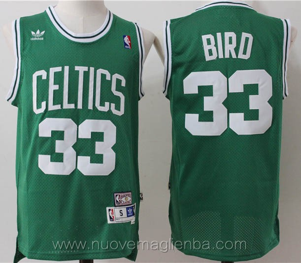 maglie basket nba retro bianco Larry Bird Boston Celtics