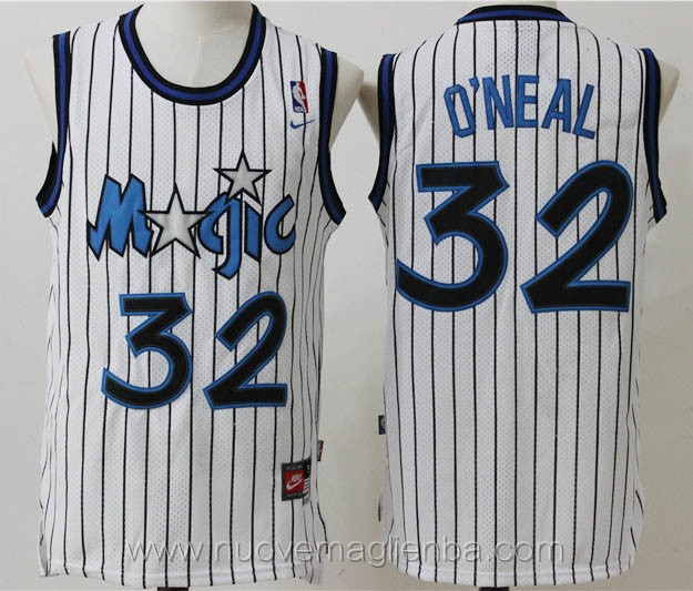 maglie basket nba retro bianco Shaquille O'Neal Orlando Magic