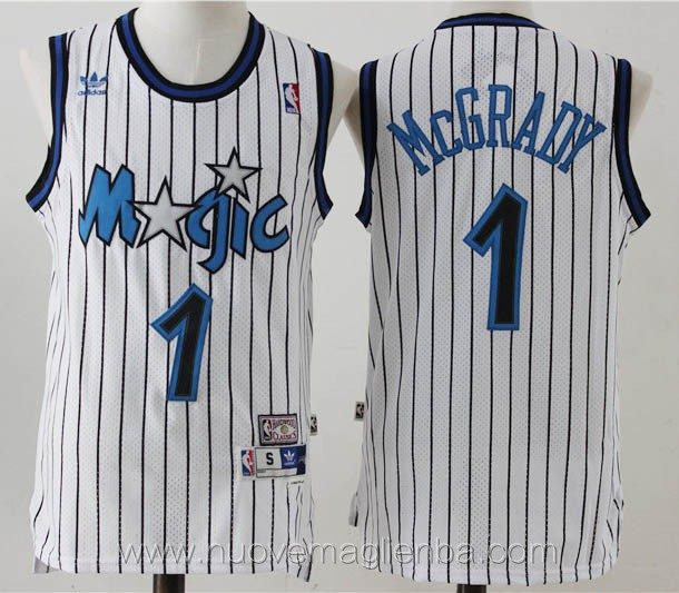 maglie basket nba retro bianco Tracy McGrady Orlando Magic