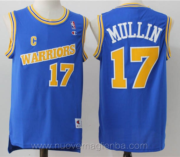 maglie basket nba retro blu Chris Mullin Golden State Warriors