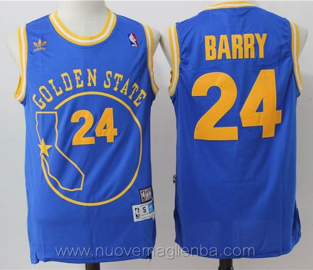 maglie basket nba retro blu Draymond Green Golden State Warriors