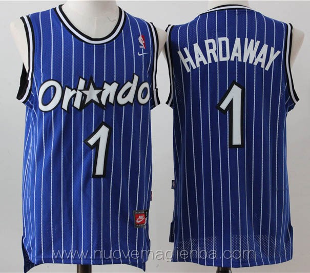 maglie basket nba retro blu Penny Hardaway Orlando Magic