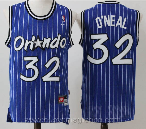 maglie basket nba retro blu Shaquille O'Neal Orlando Magic