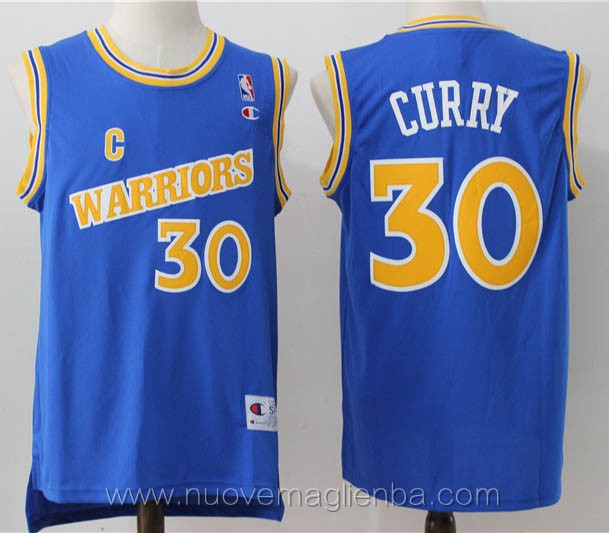 maglie basket nba retro blu Stephen Curry Golden State Warriors