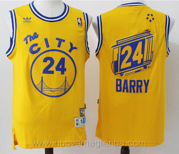 maglie basket nba retro giallo Draymond Green Golden State Warriors