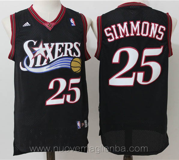 maglie basket nba retro nero Ben Simmons Philadelphia 76ers
