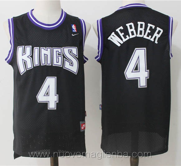 maglie basket nba retro nero Chris Webber Sacramento Kings