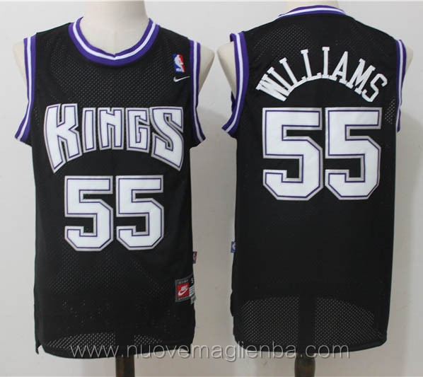 maglie basket nba retro nero Jason Williams Sacramento Kings