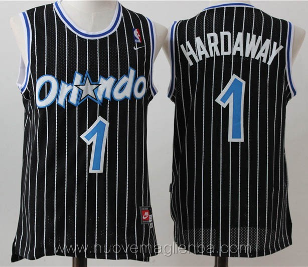 maglie basket nba retro nero Penny Hardaway Orlando Magic