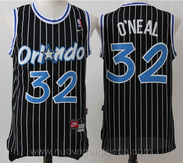 maglie basket nba retro nero Shaquille O'Neal Orlando Magic
