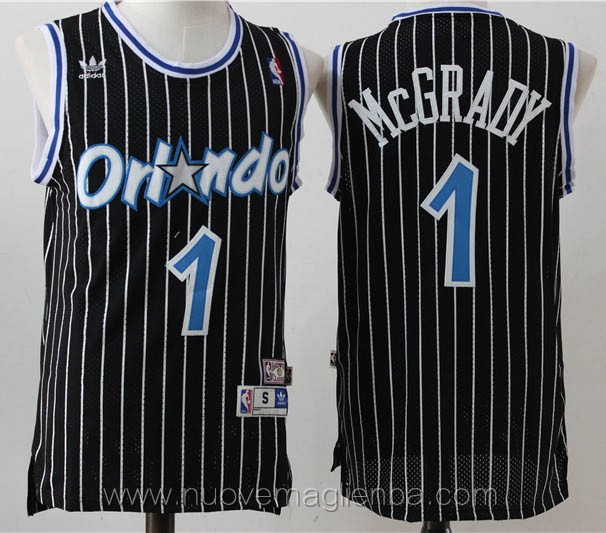 maglie basket nba retro nero Tracy McGrady Orlando Magic