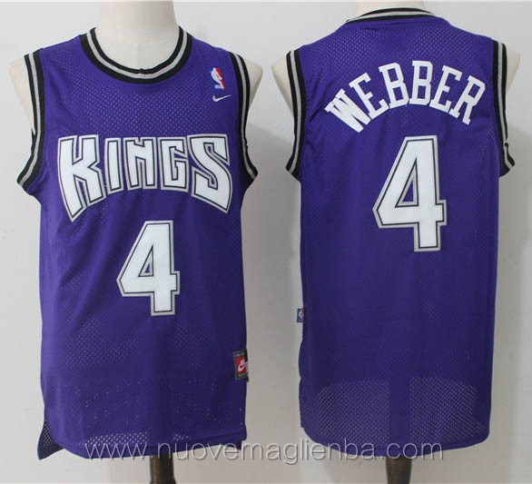 maglie basket nba retro porpora Chris Webber Sacramento Kings