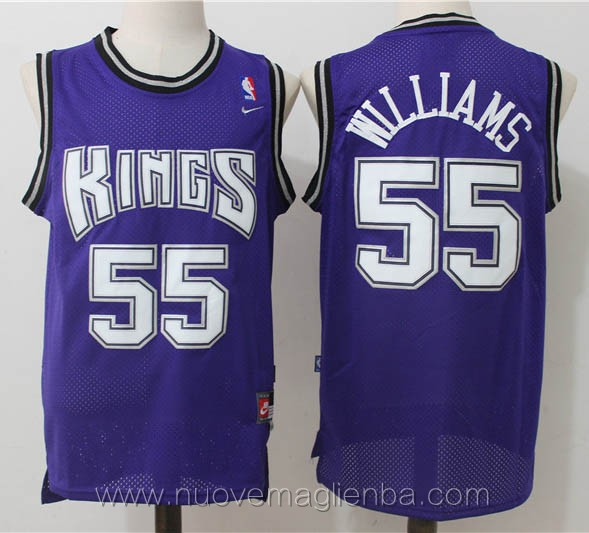 maglie basket nba retro porpora Jason Williams Sacramento Kings