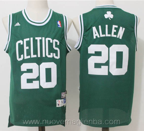 maglie basket nba retro verde Ray Allen Boston Celtics