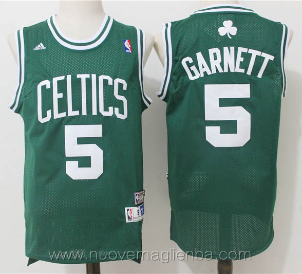 maglie basket nba retro verde Kevin Garnett Boston Celtics