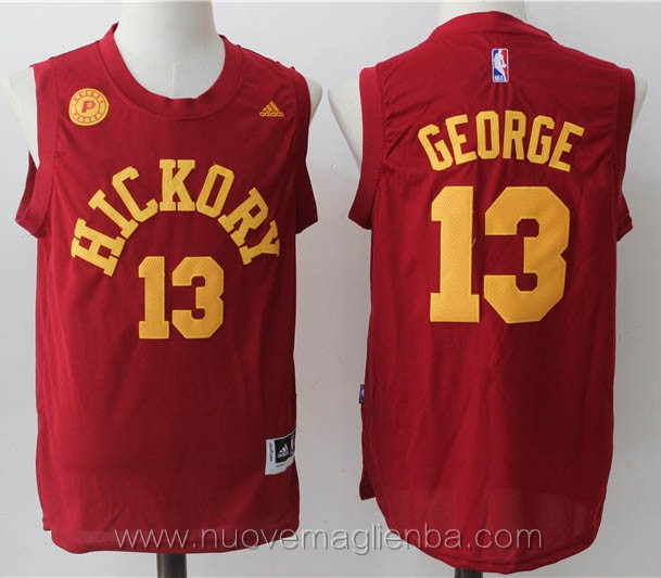 maglie basket nba rosso Paul George Indiana Pacers