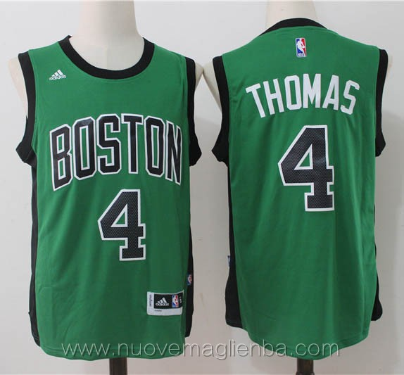 maglie basket nba verde nero Isaiah Thomas Boston Celtics