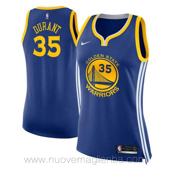 nuove canotta basket donna blu Kevin Durant Golden State Warriors