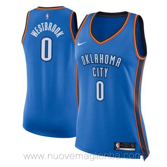 nuove canotta basket donna blu Russell Westbrook Oklahoma City Thunder