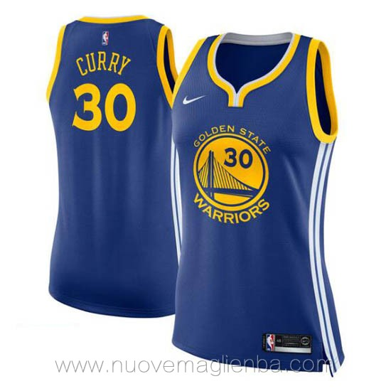 nuove canotta basket donna blu Stephen Curry Golden State Warriors