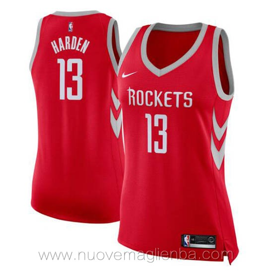 nuove canotta basket donna rosso James Harden Houston Rockets