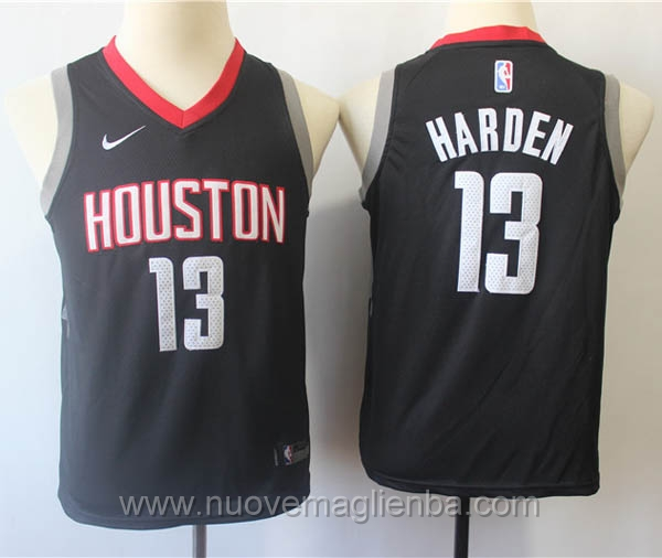 nuove canotte basket bambini nero James Harden Houston Rockets