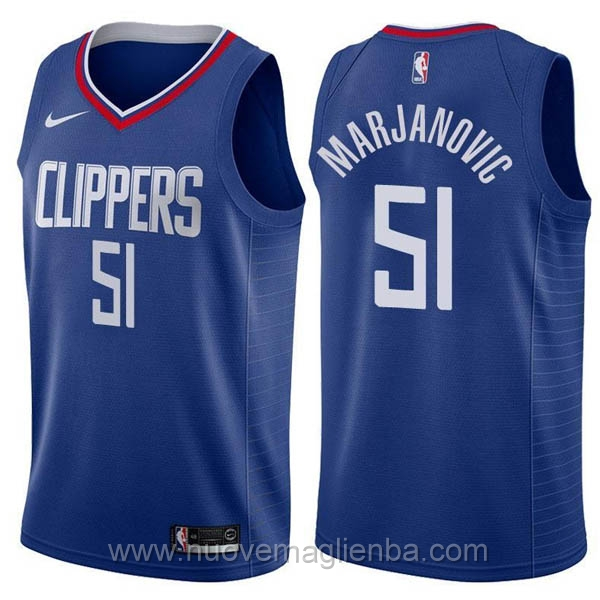 nuove maglie NBA per nike Azul Los Angeles Clippers Boban Marjanovic
