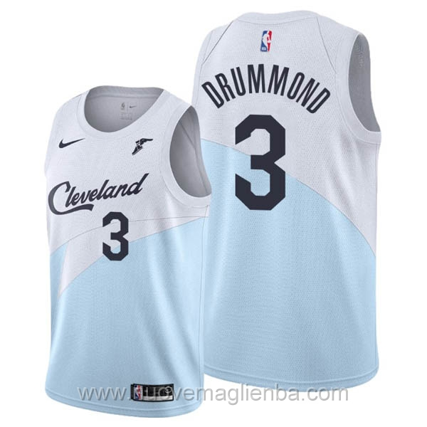 nuove maglie NBA per nike Blu bianco Cleveland Cavaliers Andre Drummond